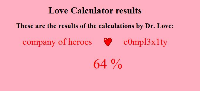 LOVE CALCULATOR THREAD - GameReplays.org