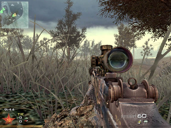 intervention sniper rifle mw2. load up your rifle with in
