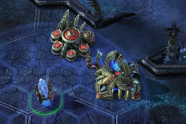 starcraft 2 how to get pylon grid