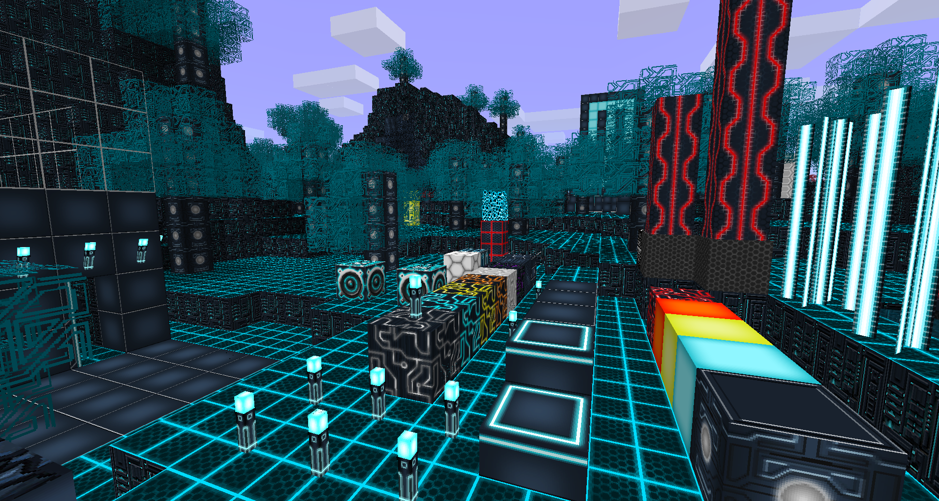 Tron-themed texture pack - GameReplays.org