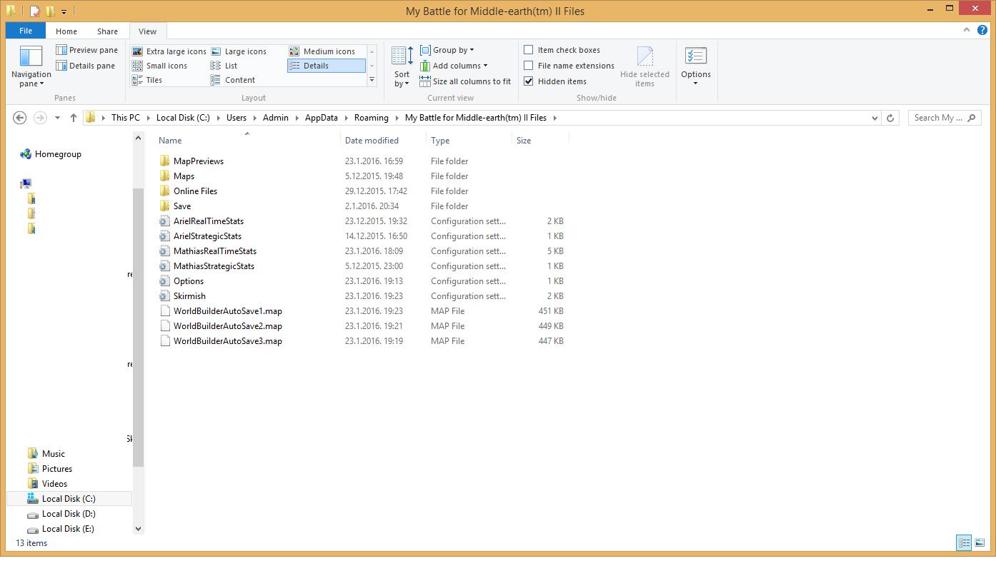 My BFME2 (tm) folder missing in appdata-Roaming