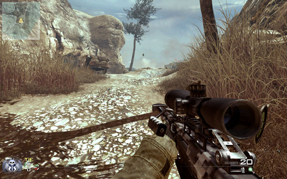 intervention sniper rifle mw2. -On the Intervention and