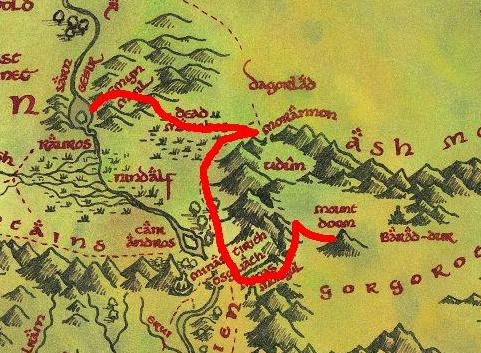 The Fellowship Of The Ring Route