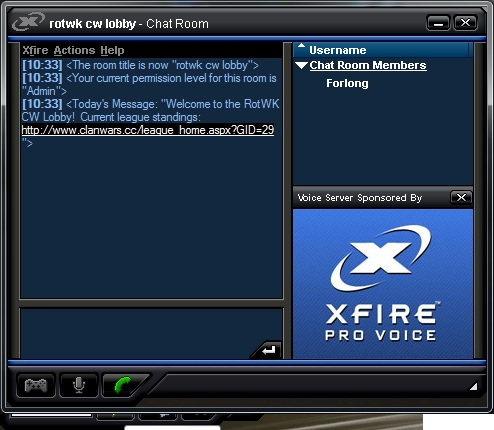 Xfire Chat Room