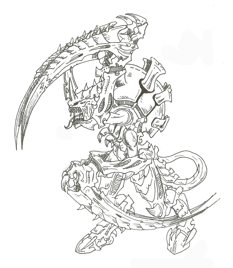 Warhammer 40k Tyranid Coloring Page Sketch Coloring Page